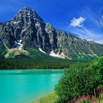 Waterfowl Lake in the shadow of Mt. Chephren, Banff.