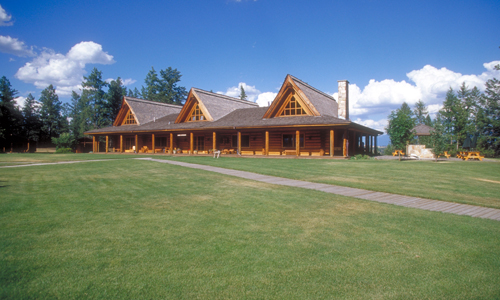 The Three Bars Guest Ranch lodge.
