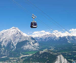 Gondolas in Banff, Lake Louise