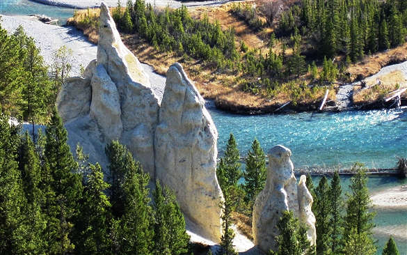 Banff Hoodoos and Hotsprings