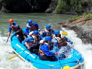 kananaskisraft 300x225 Whitewater Rafting the Mighty Kicking Horse River!