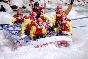 kickinghorseriverraft 300x201 Whitewater Rafting the Mighty Kicking Horse River!