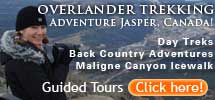Overlander Trekking 215x100 Guides to Hike, Bike and Ride Jasper National Park   Alberta