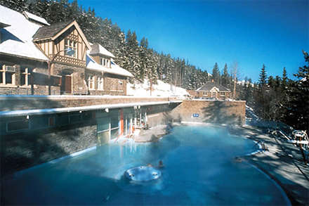 Soak in Banff Upper Hot Springs